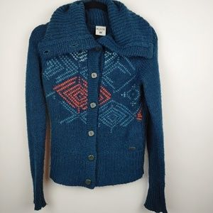 Columbia button up sweater, XS